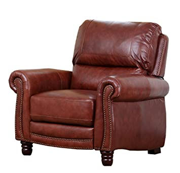 Abbyson Living Hand Rubbed Pushback Leather Baron Recliner