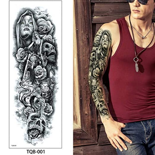 Handaxian 3pcs Brazo Completo Tatuaje Cuerpo Arte niña de Las ...