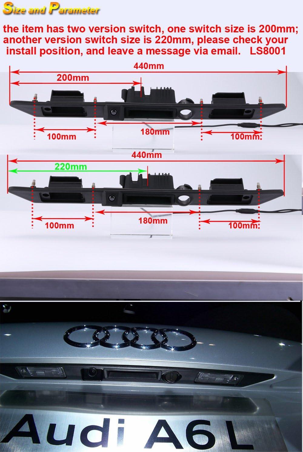 Rückfahrkamera für Audi A4 Cabrio 8H7 B6 Limo B7 S4 8E 8H S6 A6 A6L C7 4G A5 8T