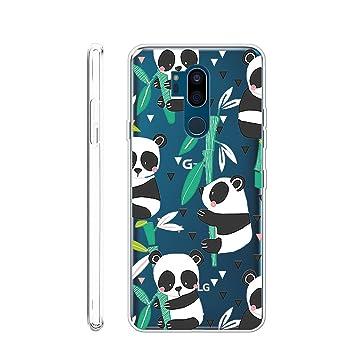 LJSM Funda LG G7 ThinQ Transparente Carcasa Flexible Ultra Slim Soft Silicona TPU Suave Caso Case Shell Cover para LG G7 (6.1