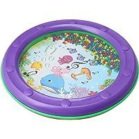 Yibuy 25x25x3cm Redondo Púrpura Borde de plástico Ocean Bead Drum Gentle Sea Sound preescolar de juguete educativo para…