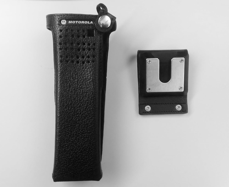Radio Holder Motorola Apx 6000 - Amazon com motorola apx 7000 6000 hard leather carry case with 2 75 swivel belt loop gps navigation