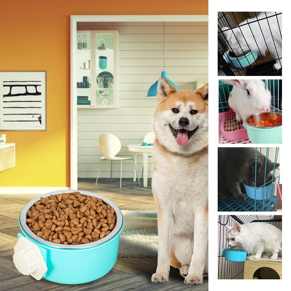 Amazon 5 stars Crate Dog Bowl, Stainless Steel Removable Hanging Food Water Bowl Cage Coop Cup for Dogs, Cats, Small Animals,14 oz by Amazon 5 stars (Image #7)