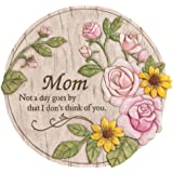 """Evergreen Garden Not a Day Goes By Mom Polystone Memorial Stepping Stone - 12""""W x 0.5""""D x 12""""H"""