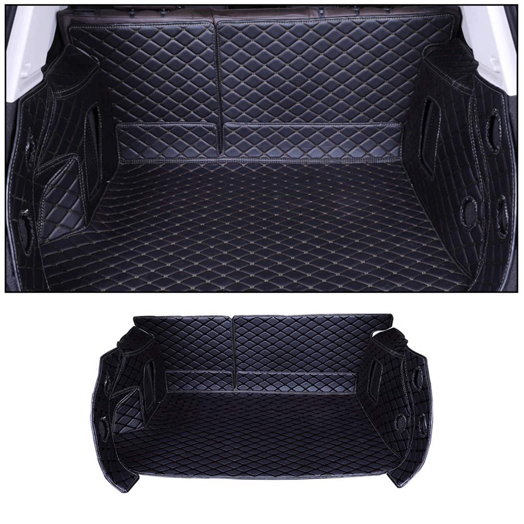 ALLYARD para X6 2015-2019 Flat Style XPE Cuero Maletero Alfombra Coche Equipaje Maletero Estera Tronco Equipaje Trasera Estera Antideslizante Alfombrilla Beige