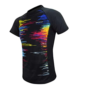 Revenlo® Camiseta Running Hombre reflectiva Grado Profesional Fibra Revendrying Transpirable Secado rápido diseño único Patentado Camiseta Deportiva Hombre ...