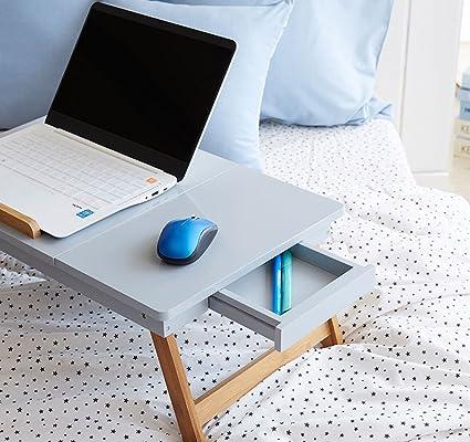 jiangu cama plegable mesa para portátil, mesa cama Escritorio de ...