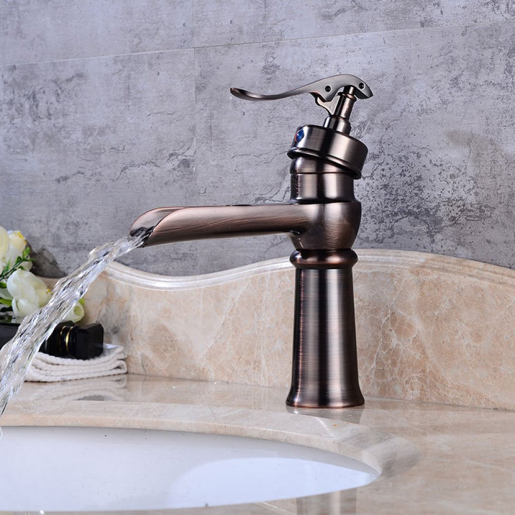 FW Water tap countertop washbasin tap continental vintage water tap waterfall washbasin tap single tap bathroom tap