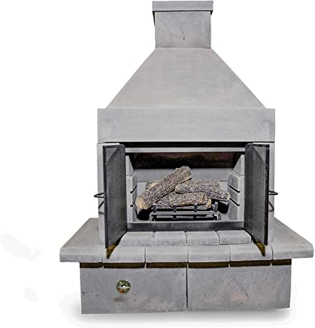 Mirage Stone Outdoor Fireplace Bbq Kit Grill Design For Patio Or Yard Fire Place Screen Covers