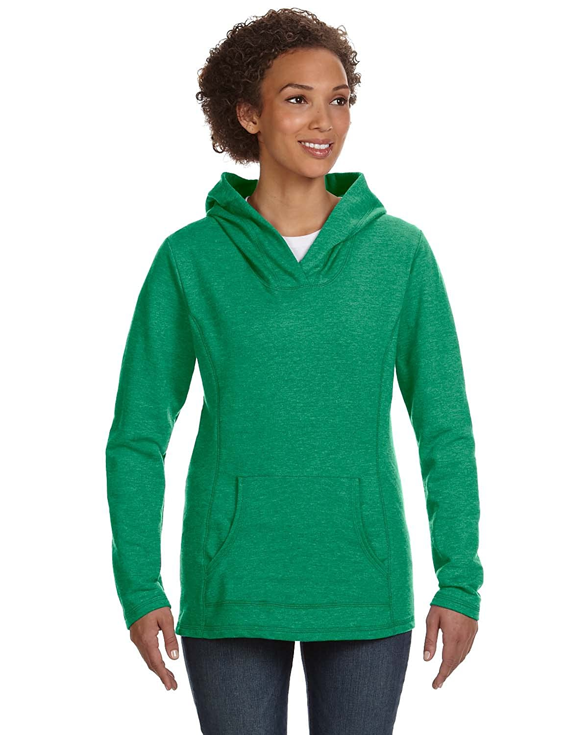 Anvil Ladies Hooded French Terry-White