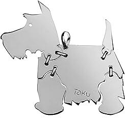 SCOTTISH TERRIER Hunde Tier-Anhänger Medium 925 Sterling Silber Charm Schmuck 003CM