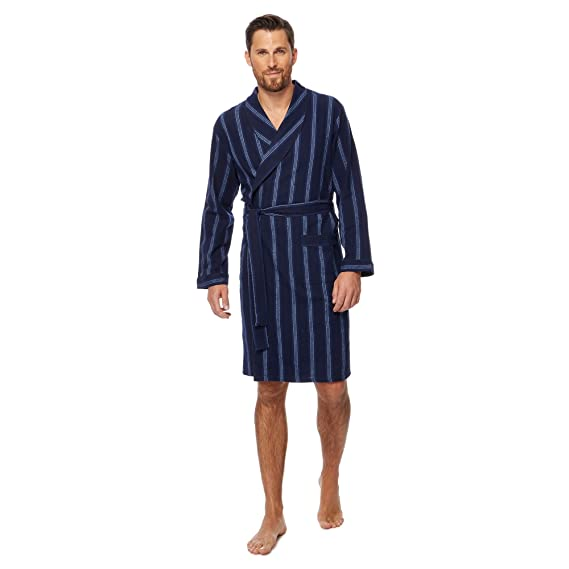 Maine New England Men Navy Striped Dressing Gown: Maine New England ...