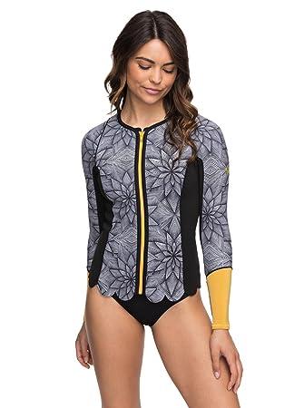 Roxy Womens 1Mm Pop Surf - Front Zip Scallop Wetsuit Jacket - Women - 4 - d0575b364