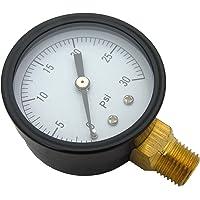 LASCO 13-1911 30 PSI salida inferior presión-gauge con 5,08 cm cara y 1/10,16 cm tubería macho