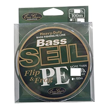 Evergreen P.E Line Bass Seil Flip & & Flip Frog Heavy Duty 100m 80lb (5295 ... ed2102