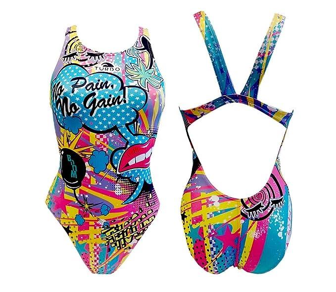 TURBO - Swimsuit Nat. Sra. Crazy Comic, Talla 3XL, Color Celeste: Amazon.es: Ropa y accesorios