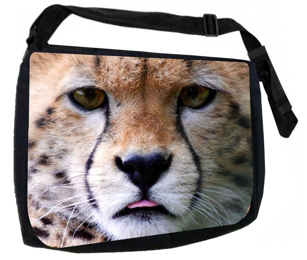 Amazon.com: Bear Face Up Close TM School Messenger Bag+ ...