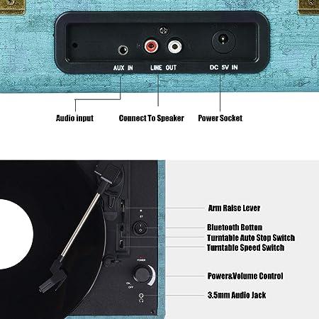 Amazon.com: JOPOSTAR - Reproductor portátil de 3 velocidades ...