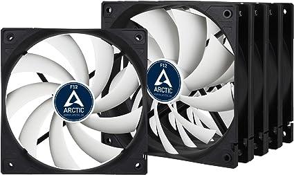 ARCTIC F12 (5 piezas) - 120 mm Ventilador de Caja para CPU, Motor Muy Silencioso, Computadora, 1350 RPM - Negro/Blanco: Amazon.es: Informática
