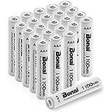 Bonai 単4形 充電池 充電式ニッケル水素電池 24個パック PSE/CEマーキング取得 UL認証済み(高容量1100mAh 約1200回使用可能)