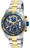 Invicta Men's Pro Diver Quartz Watch with Stainless-Steel Strap, Two Tone, 22 (Model: 22415