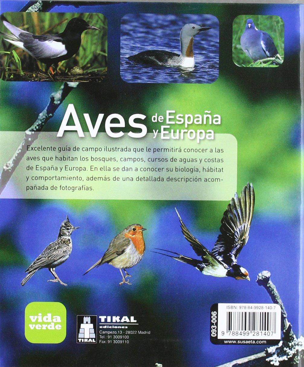 Aves De España y Europa (Vida verde): Amazon.es: Varios Autores ...