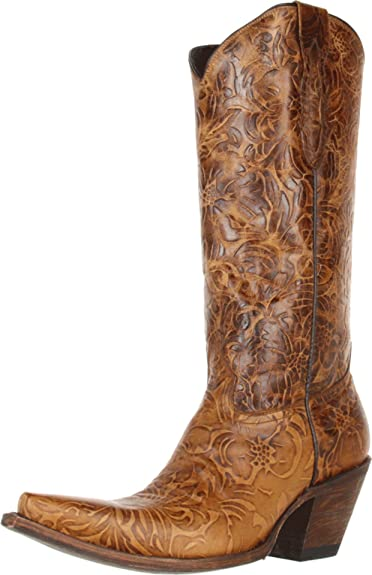 67435a5b83b Lucchese M5711 Ladies' Autumn Dry Leaf Calf With Andrea Design Boots ...