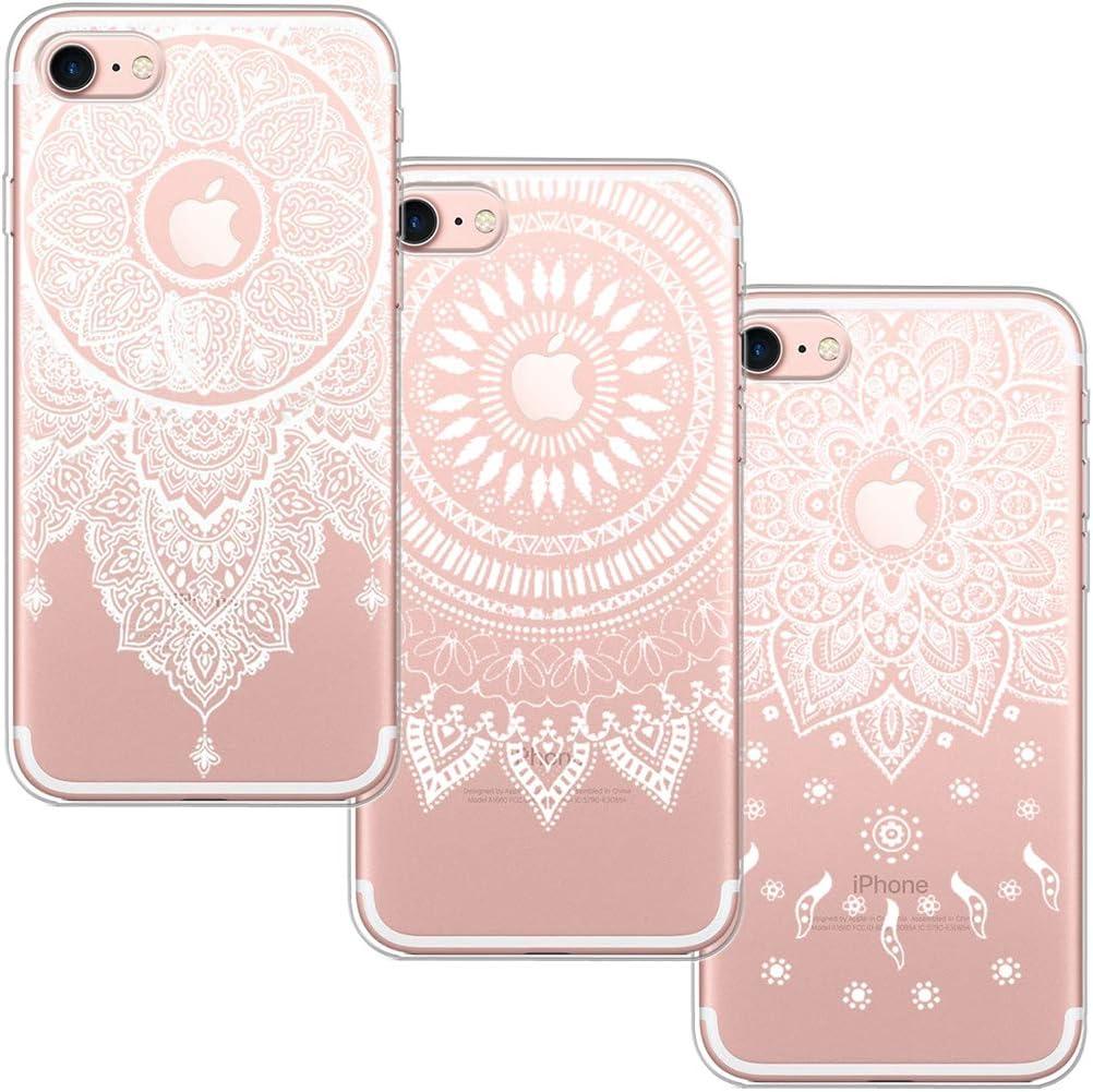 3 Pack] Funda iPhone 7, Funda iPhone 8, Blossom01 Funda Ultrafina ...