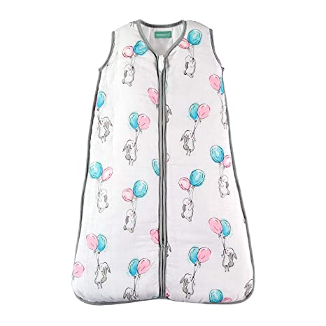 """Super Soft and Warm Premium Padded Muslin Sleeping Bag for Babies molis/&co 80 cm 31.5/"""" Ideal for Winter and mid-Season use. 0 to 6 Months 2.5 TOG Unisex Star Print in Blue and Beige"""