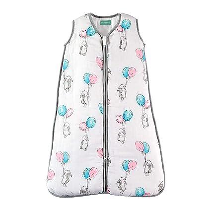 Saco de Dormir para bebé de Muselina Premium Acolchado. Súper Suave y cálido. TOG 2.5. Ideal para Entretiempo e Invierno.: Amazon.es: Ropa y accesorios