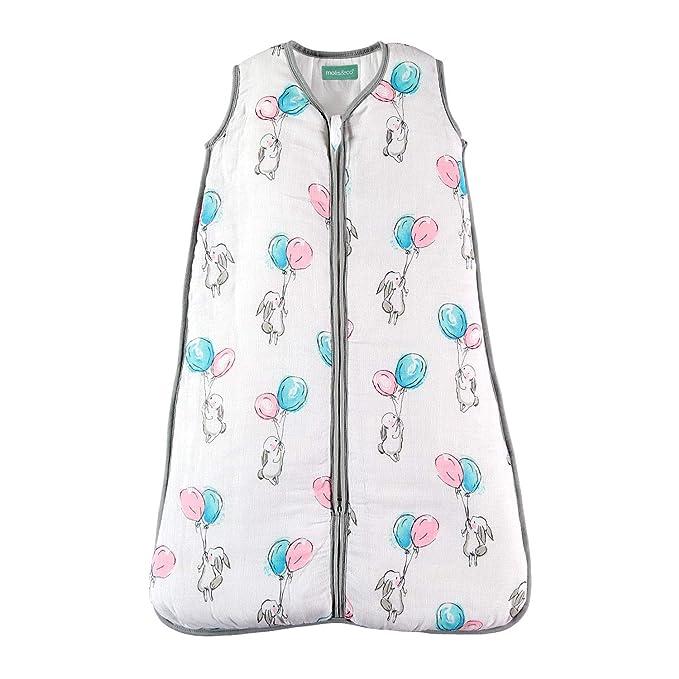 Saco de dormir para bebé de muselina premium acolchado. Súper suave y cálido