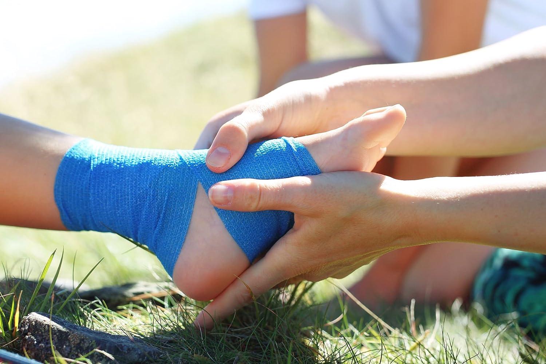 Kenley Bende Elastiche Autoadesive Veterinarie 5 cm Bende per Bendaggi e Impacchi Mediche per Atleti Cavalli Gatti Cani Set da 12 Rotoli Colorate