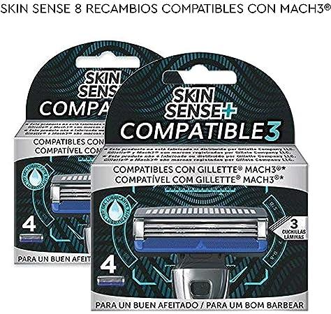 Skin Sense Compatible 3 - Set de 4 Cuchillas de Recambio ...