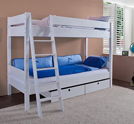 Alfred & Compagnie – Pack Cama + 2 colchón 90 x 200 Emile Blanco