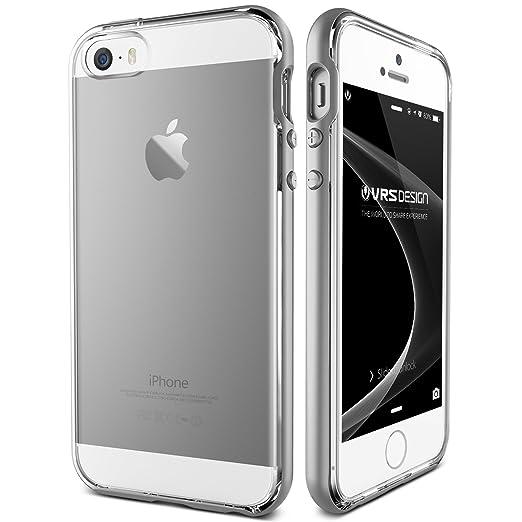 55 opinioni per Cover iPhone SE/5S/5, VRS Design® Custodia [Argento] Ultra-Sottili Antiurto