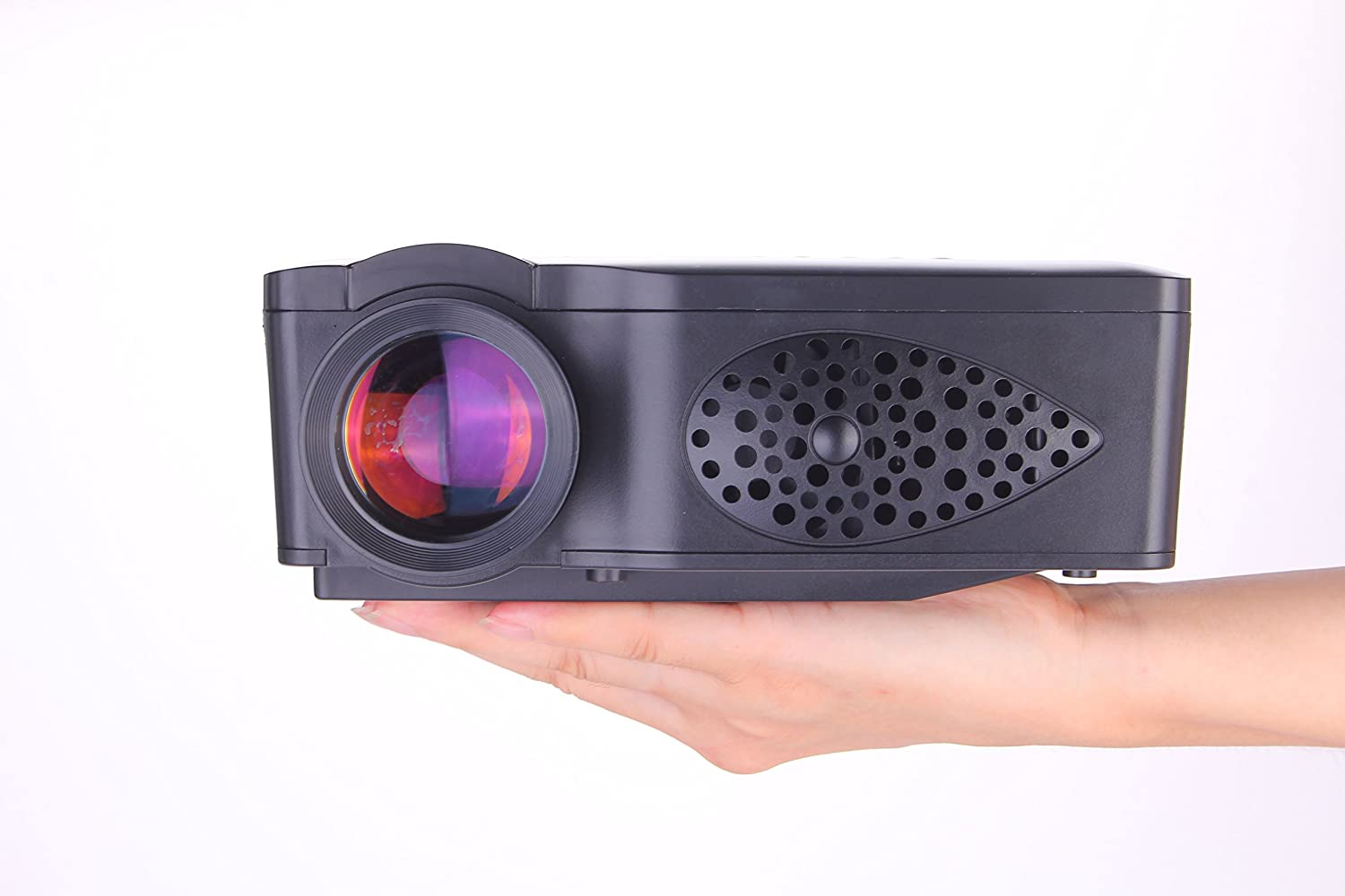 Projector portable led wireless home hd theater pc laptop for Compact projector for laptop