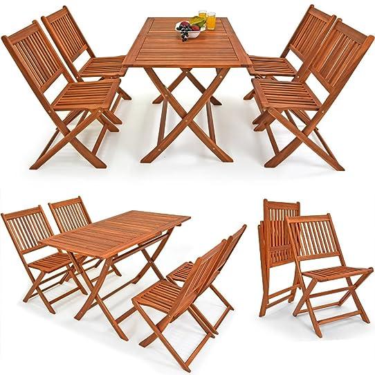 Salon de jardin Sydney ensemble de jardin en bois d\'acacia 1 table ...