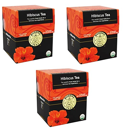 Buddha Hibiscus Flower Tea | 18 Bleach Free Tea Bags | Pack of 3