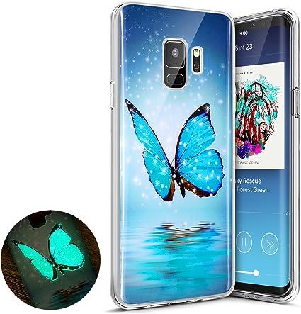 Coque Galaxy S9,Surakey Nuit Luminous Effet Fluorescent TPU Housse ...