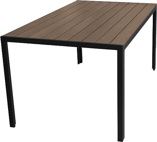 Aluminio jardín mesa 150 x 90 cm con polywood/Non Wood – Tablero ...