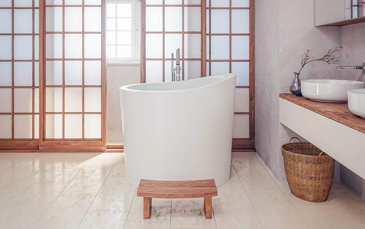 Vasca Da Bagno Giapponese Prezzi : Aquatica true ofuro mini libera installazione pietra giapponese