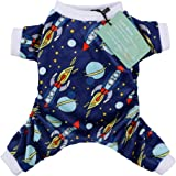 CuteBone Dog Pajamas Rocket Dog Apparel Dog Jumpsuit Pet Clothes Pajamas P16+N