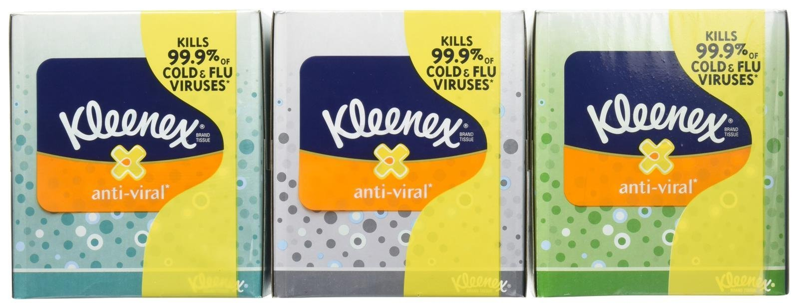 Kleenex Anti-Viral Facial Tissues, 68 Count (Pack of 18)