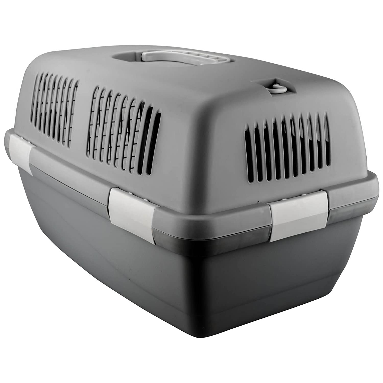 ASAB Bolsa de transporte portátil para mascotas, cachorros, gatos, conejos, caseta grande 48 cm x 30 cm x 28 cm, bolsa plegable de metal transpirable para ...