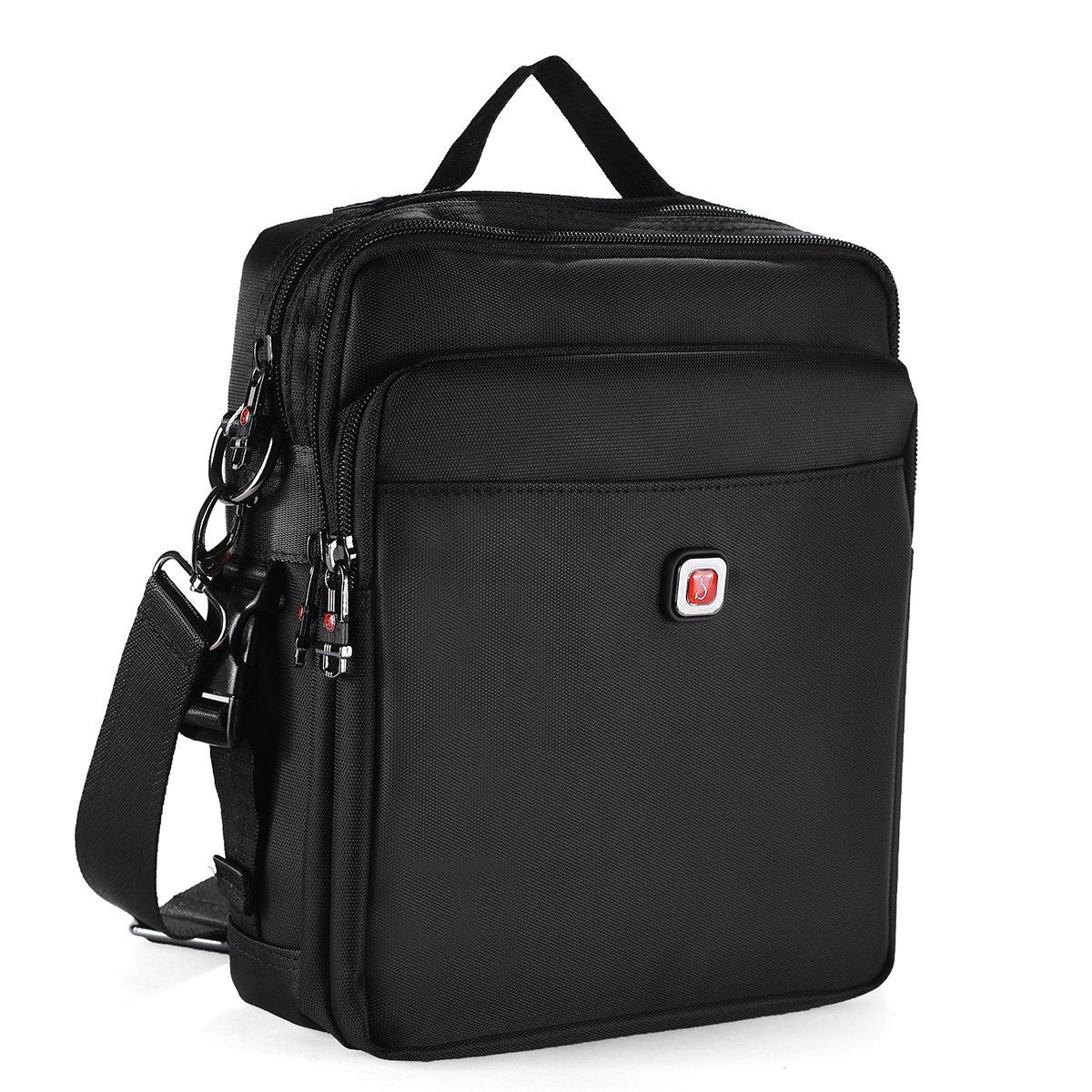 Soperwillton Vintage Multifunction Shoulder Bag Business Messenger Bag Ipad Bag Work Field Bag