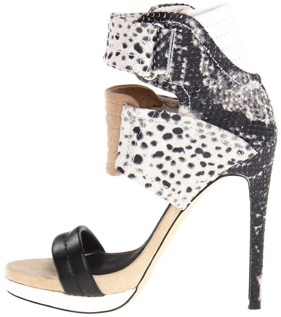Calaier Mujer Cadifferent Tacón De Aguja 12CM Sintético Elástico Zapatos de tacón 40|Varios colores B