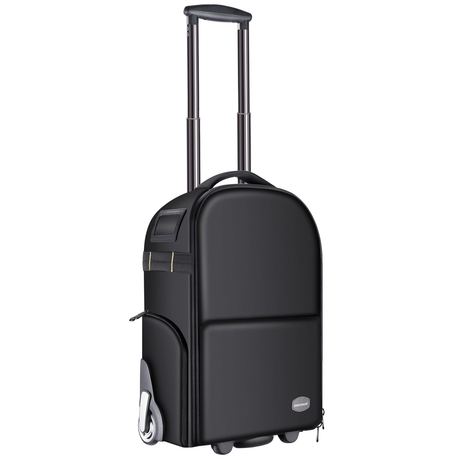 Neewer 2-in-1 Camera Backpack Luggage Trolley Case with Double Bar, Anti-shock Detachable Padded Compartment, Hidden Pull Bar and Strap, Waterproof for DSLR Cameras, Tripod, Lens for Air Travelling by Neewer