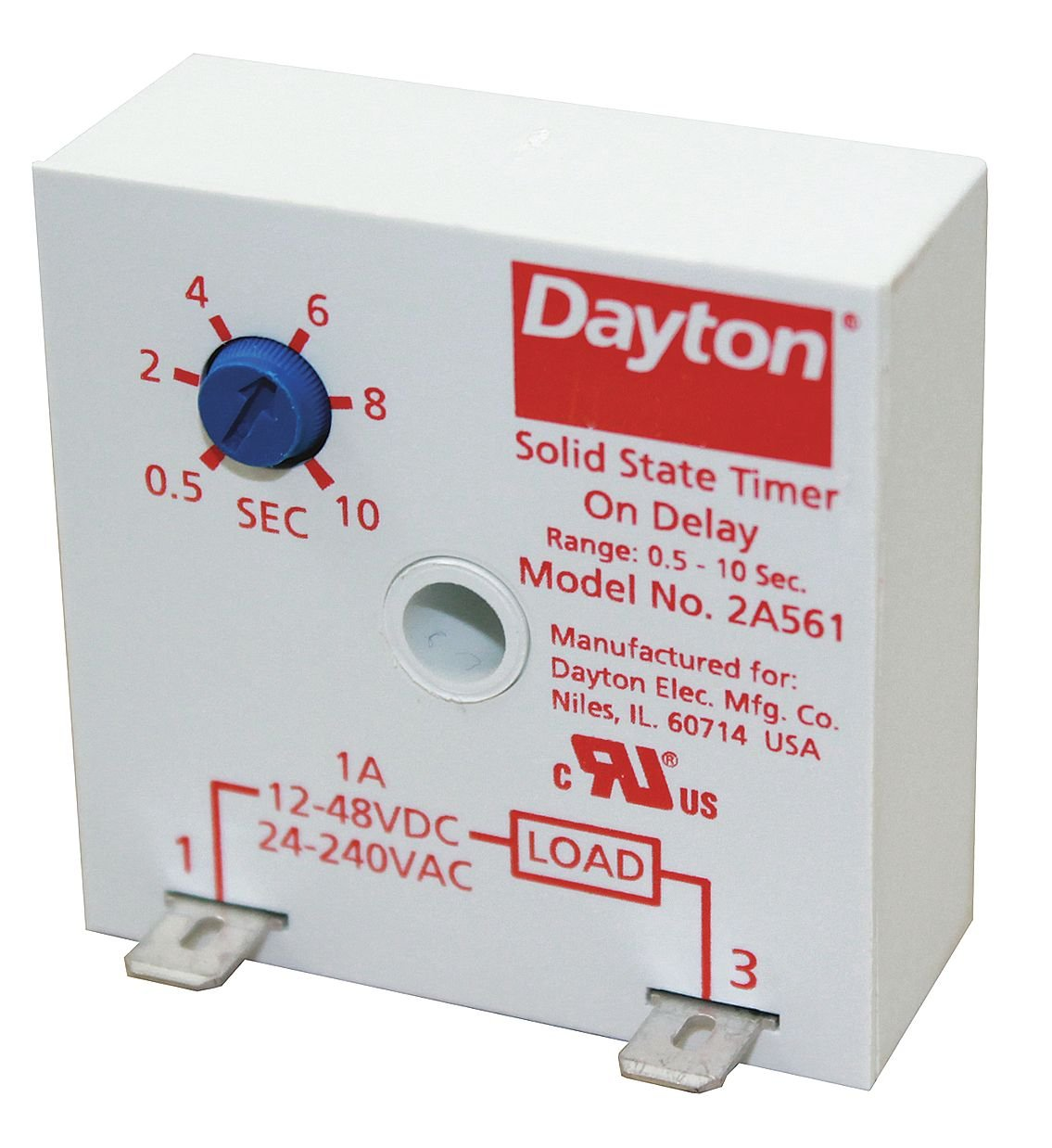 Encapsulated Timer Relay, 1A, Solid State