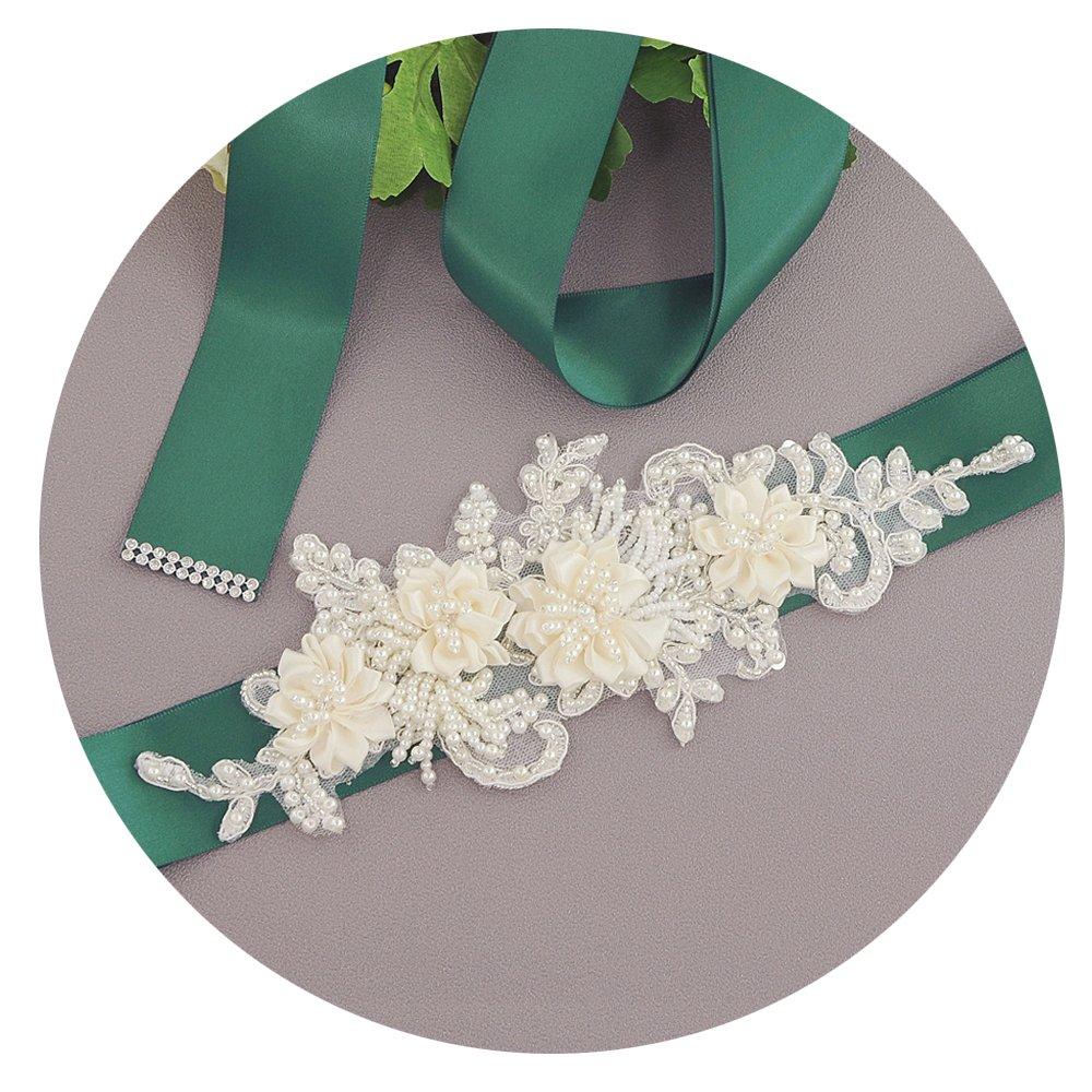 THK-Wedding Flower Wedding Sash Bridal Belt Bridal Sash Wedding Belt for Wedding