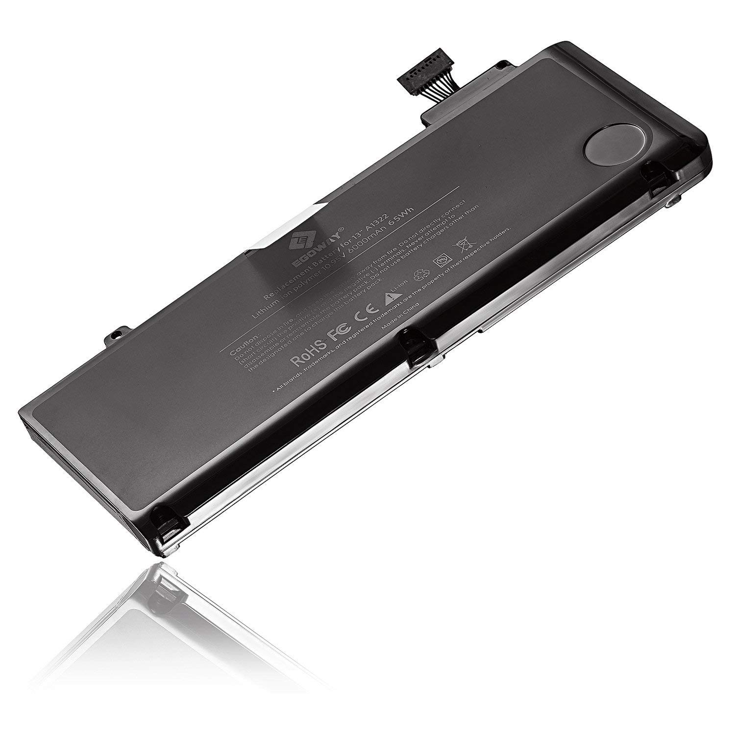 E EGOWAY Laptop Battery (10.95V 6000mAh) Replacement for MacBook Pro 13 Inch A1322 A1278 by E EGOWAY (Image #2)